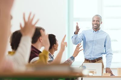 Man teaching a class