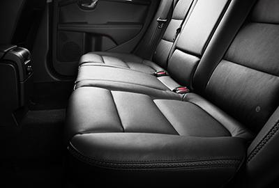 Inside of a limousine